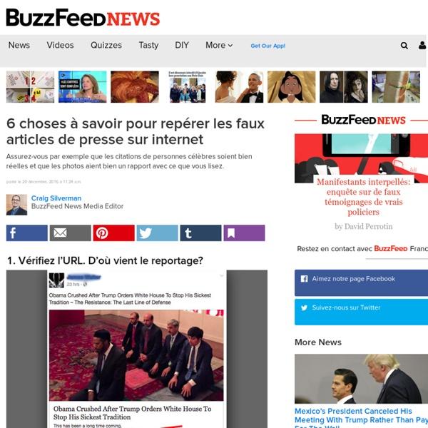 6 choses à savoir pour repérer les faux articles de presse sur internet - BuzzFeed News