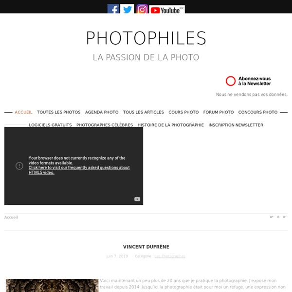 Photographes et photographie sur Photophiles magazine photo