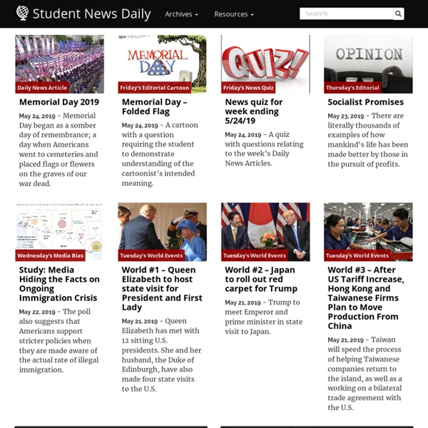 Current events articles for teachers and students