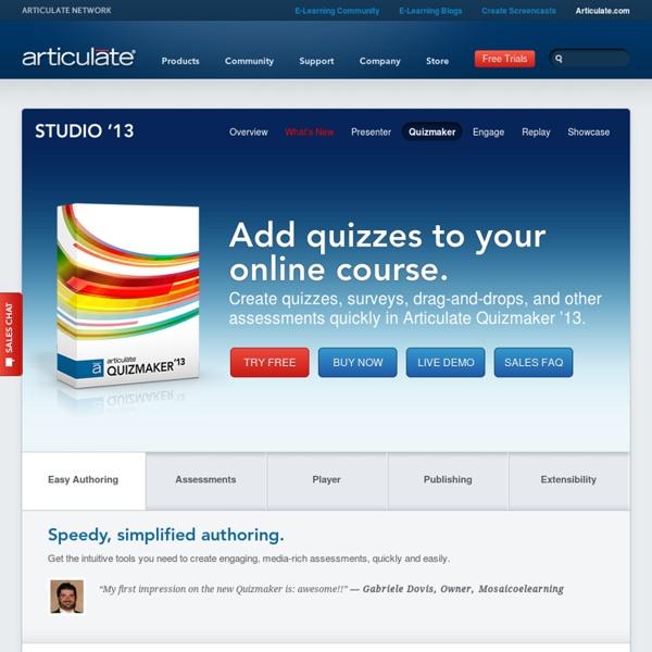 Articulate Quizmaker - Online Quiz Creator Software