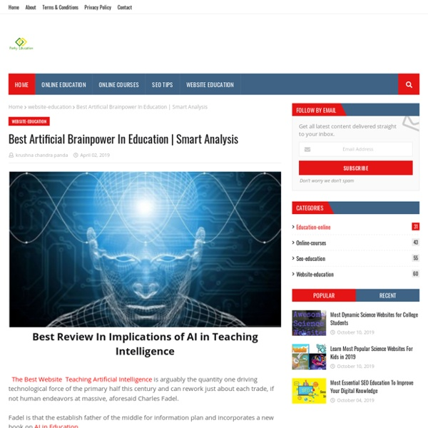 Best Artificial Brainpower In Education