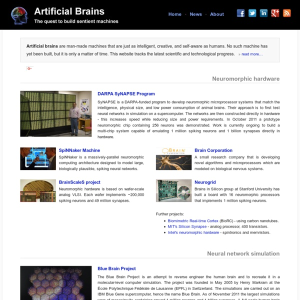 Artificial Brains - The quest to build sentient machines