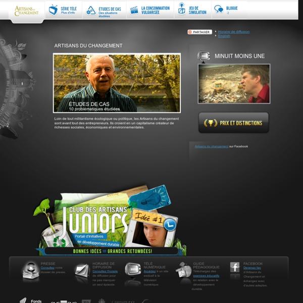 Site officiel des Artisans du Changement