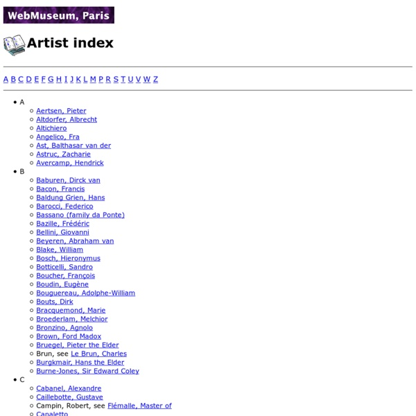 Artist index