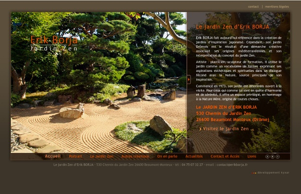 Le jardin zen d erik borja jardin d 39 artiste beaumont for Le jardin zen beaumont monteux