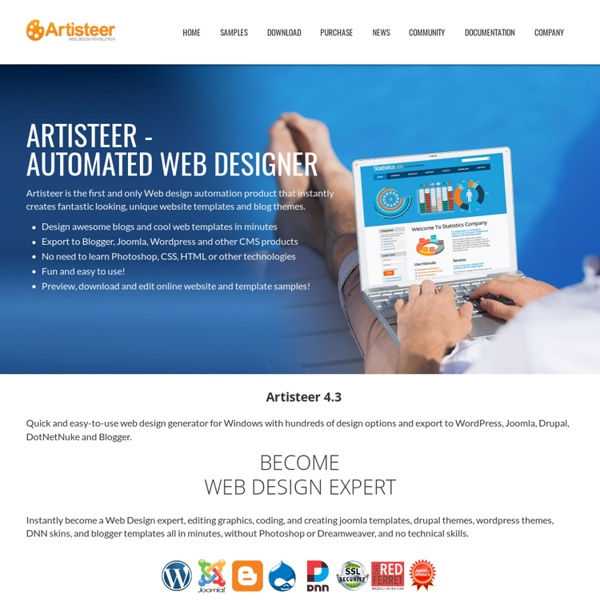 Artisteer - web design software and joomla template maker