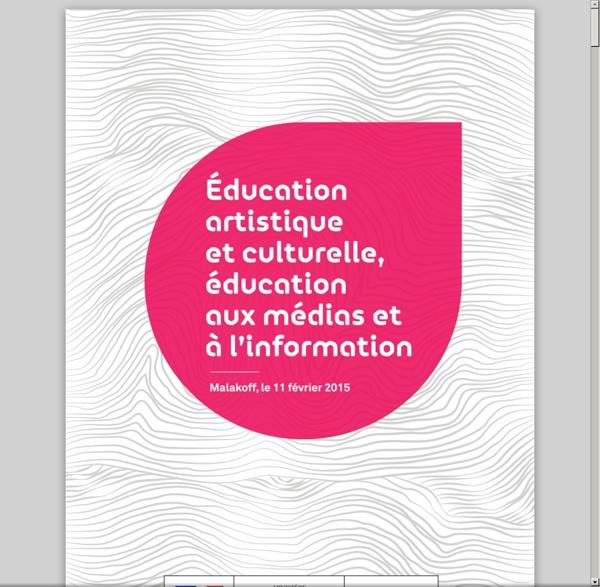 Education artistique culturelle, éducation aux médias et à l'info