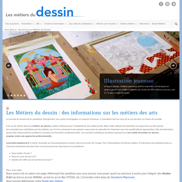 » Métier dessin : métier artistique, métiers d'art, multimédia, dessinateur