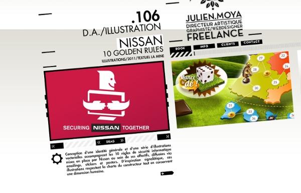 JULIEN MOYA GRAPHISTE FREELANCE DIRECTEUR ARTISTIQUE FLASH WEBDESIGNER