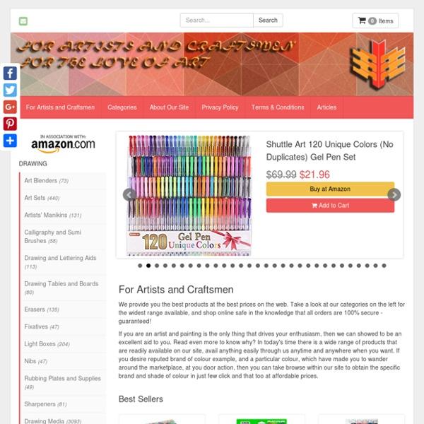 For Artists and Craftsmen - Secure Online Shop