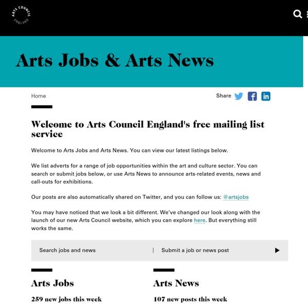 Arts Jobs & Arts News