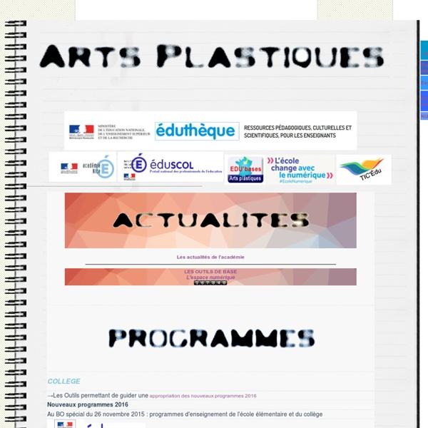 Les Arts Plastiques dans l'Académie de Nice