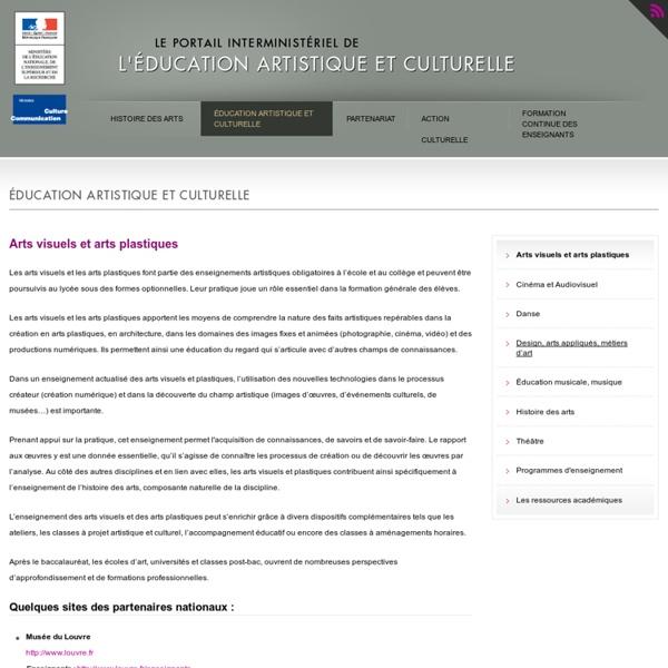 Arts visuels et arts plastiques - Education nationale