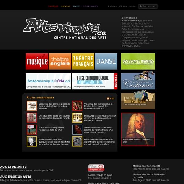 Artsvivants.ca - Accueil