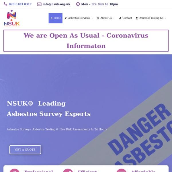 Asbestos Surveys From £50
