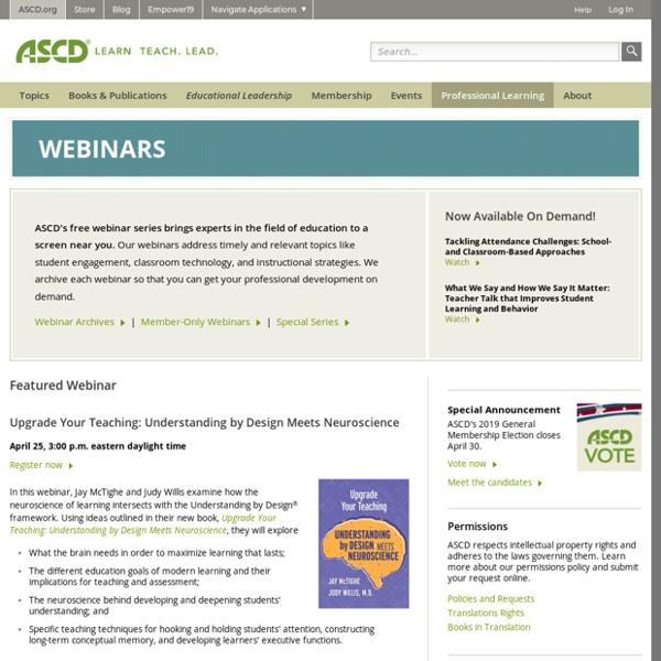 ASCD Webinars (cost)