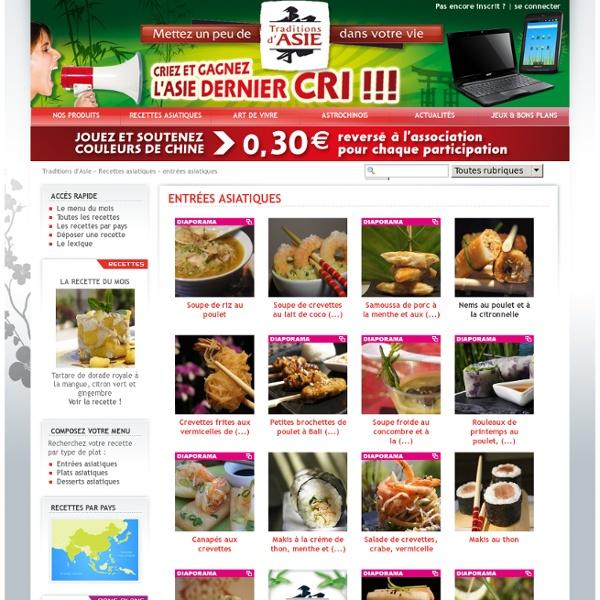 Toutes les recettes asiatiques - Cuisine asiatique et recettes chinoises avec Traditions d