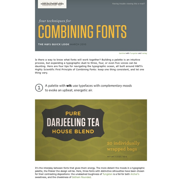 Ask H&FJ: Four Ways to Mix Fonts