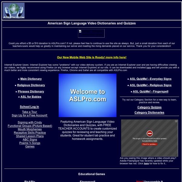 ASLPro.com Home