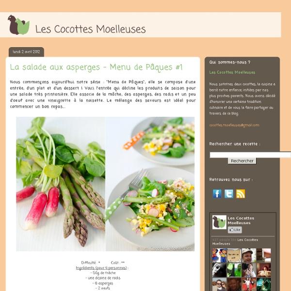 La salade aux asperges - Menu de Pâques #1 - Les Cocottes Moelleuses