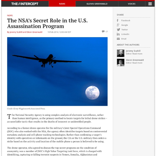 The NSA's Secret Role in the U.S. Assassination Program