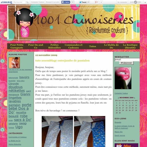 Tuto assemblage entrejambe de pantalon - 1001 Chinoiseries, RéSolumEnT CouTuRe
