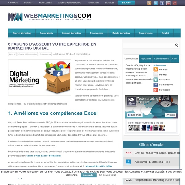 6 façons d'asseoir votre expertise en marketing digital