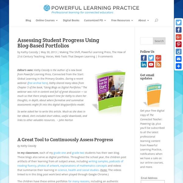 Assessing Student Progress Using Blog-Based Porfolios