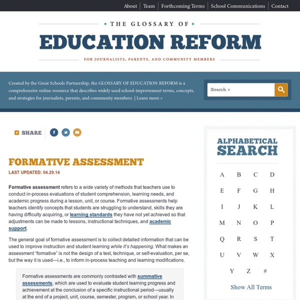 Formative Assessment Definition