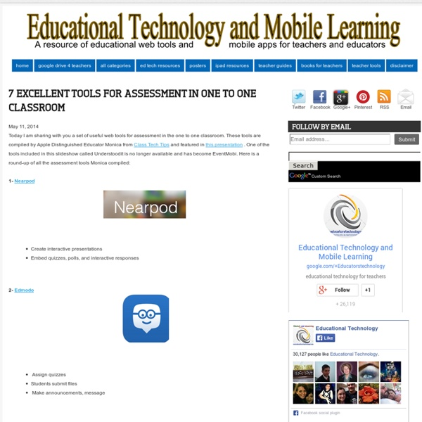 7 Excellent Tools for Assessment in One to One Classroom