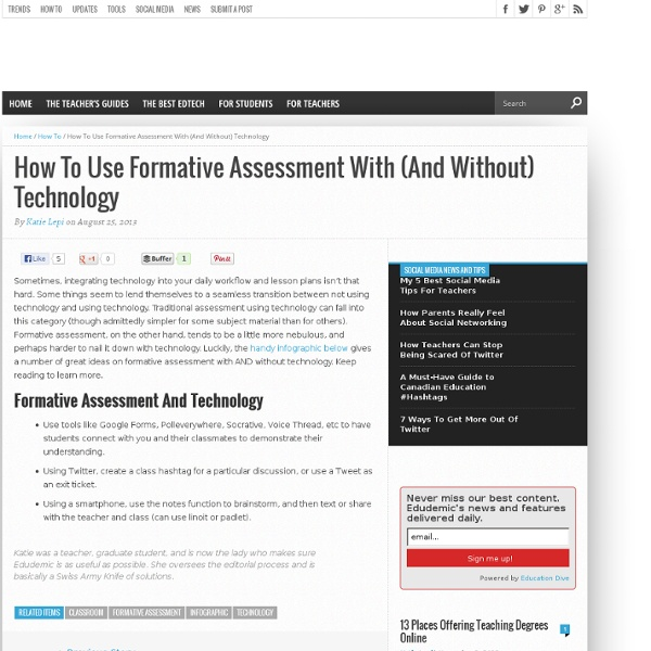 How To Use Formative Assessment With (And Without) Technology
