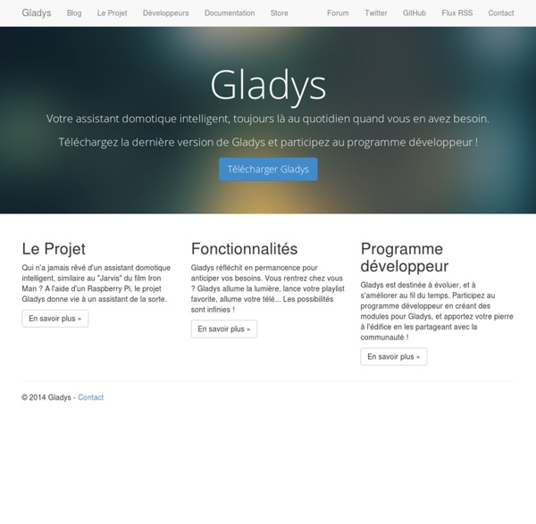 Gladys - Votre assistant domotique intelligent