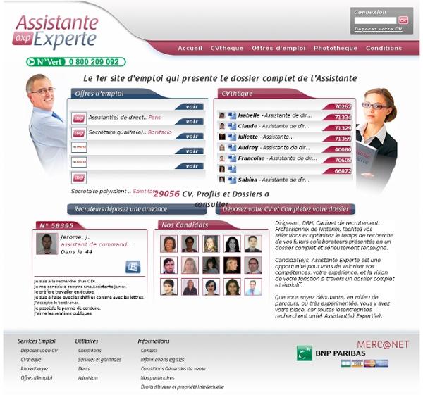 assistante experte  offres d u0026 39 emploi et cv des meilleures assistantes et assistants