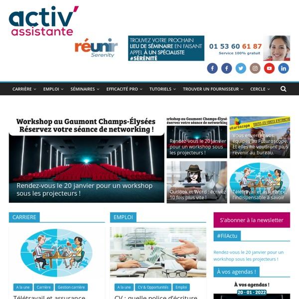 Activ'Assistante - Le partenaire des assistantes, secrétaires et offices manager