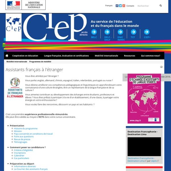 Assistants français à l'étranger