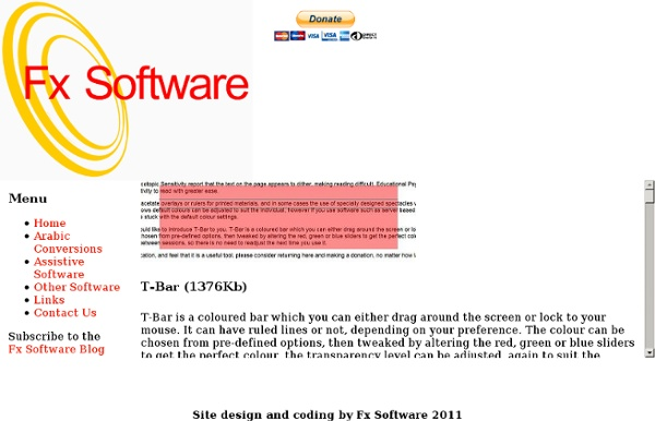 Fx Free Software & Assistive Software, download site for VuBar, TBar, Edgeless & other applications