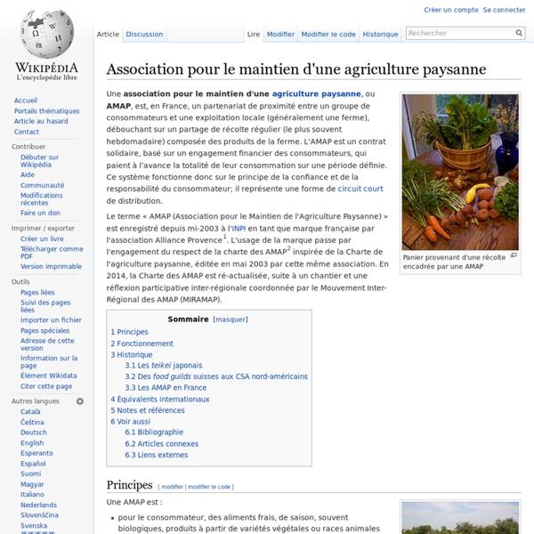 Association pour le maintien d'une agriculture paysanne - Wikipé