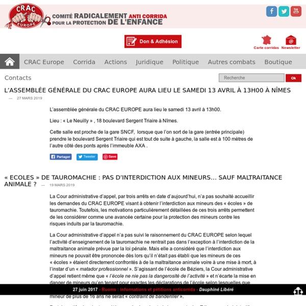 CRAC Europe - Comité Radicalement AntiCorrida