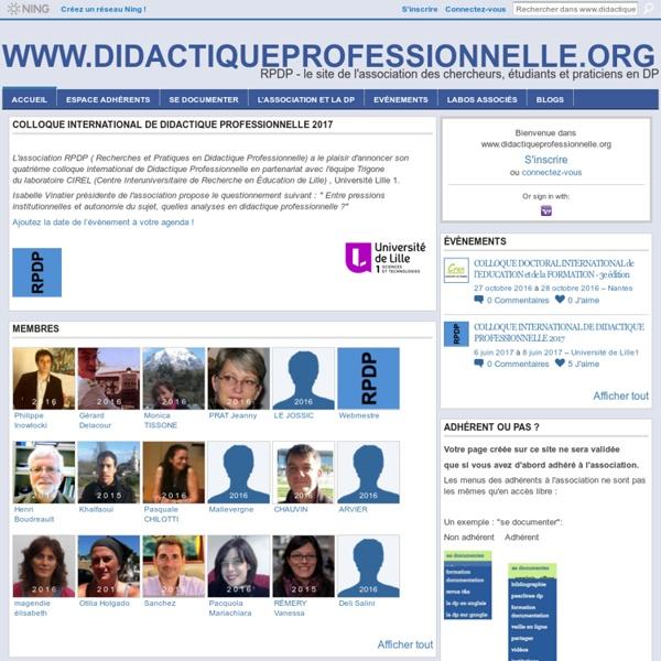 Didactiqueprofessionnelle.org - RPDP - le site de l'Association des chercheurs, étudiants et praticiens en DP