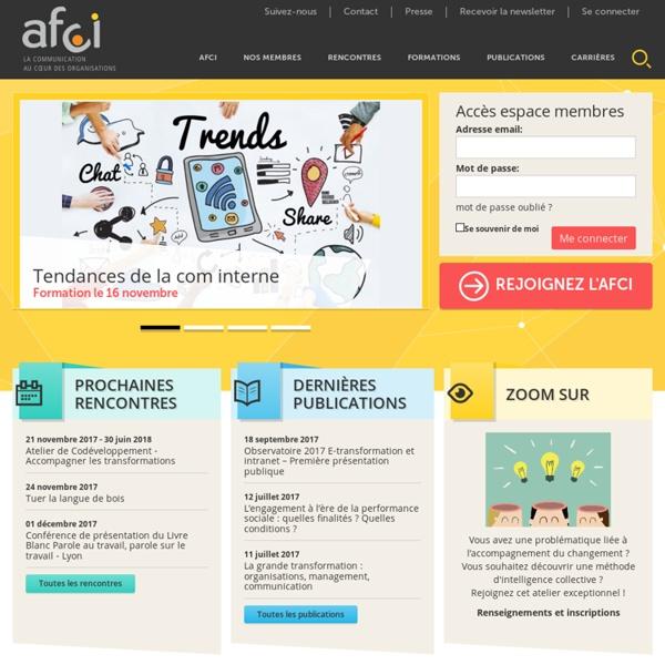 Accueil - Association Française Communication Interne