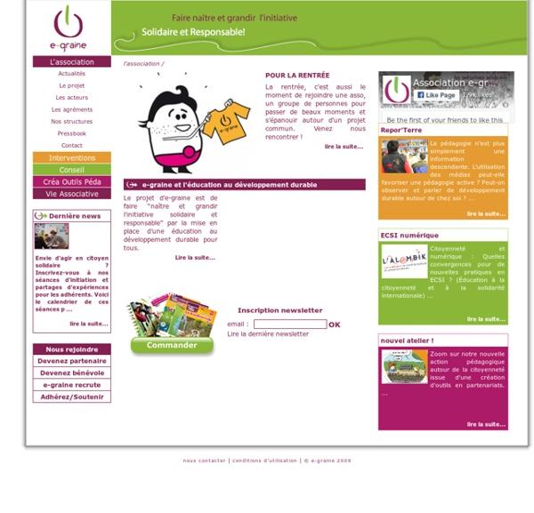 E-graine, association d'éducation au développement durable.
