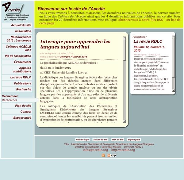 Association des Chercheurs et Enseignants Didacticiens des Langues Étrangères