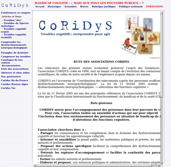 Association CORIDYS - dyslexie, dysorthographie, dysphasie