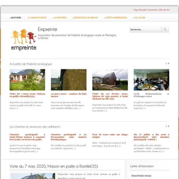 Empreinte - Association de promotion de l'habitat écologique située en Bretagne, près de Rennes