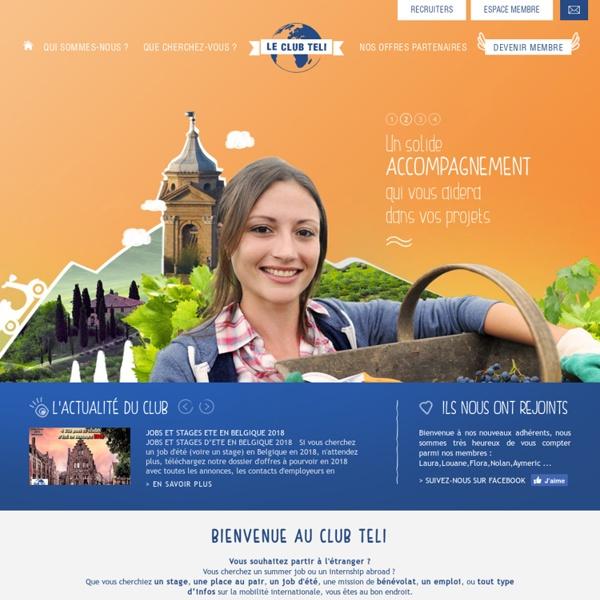 Association voyageurs, annuaire offres emplois stages à l'étranger