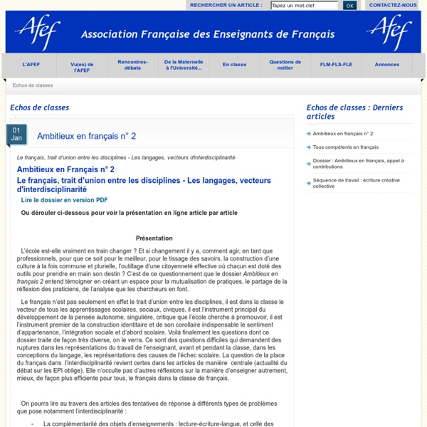 AFEF : Ambitieux en français 2