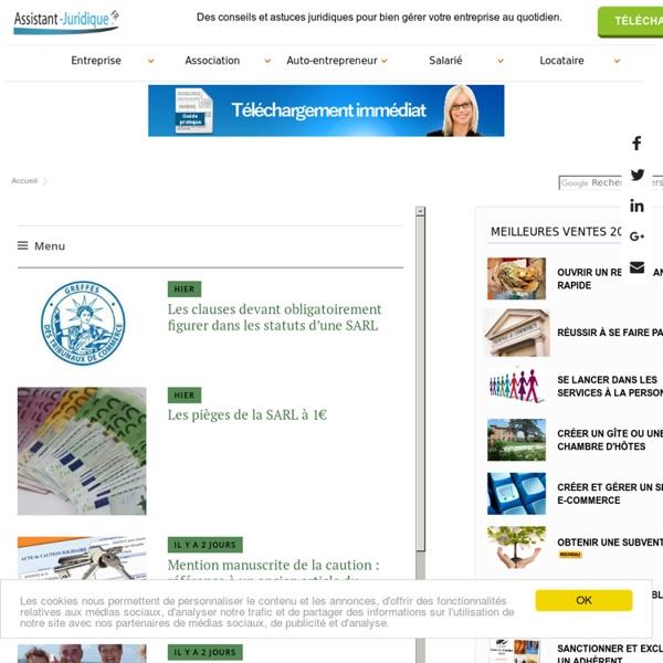 Aide juridique association et entreprise