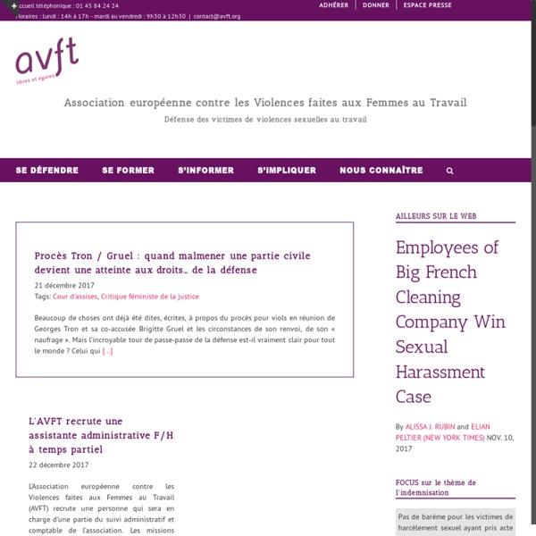 AVFT Association européenne contre les Violences faites aux Femmes au Travail