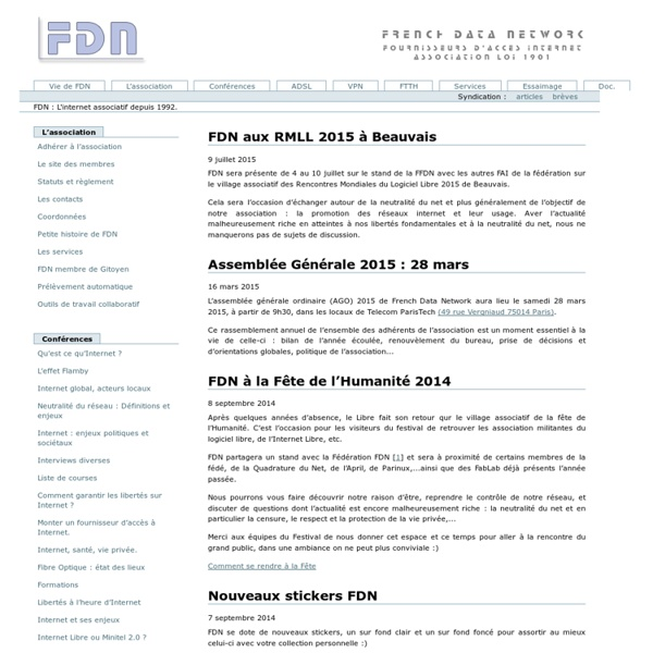 Association fournisseur d'accès RTC et ADSL