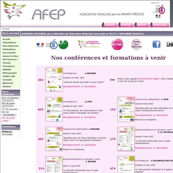 AFEP - Association Française pour les Enfants Précoces